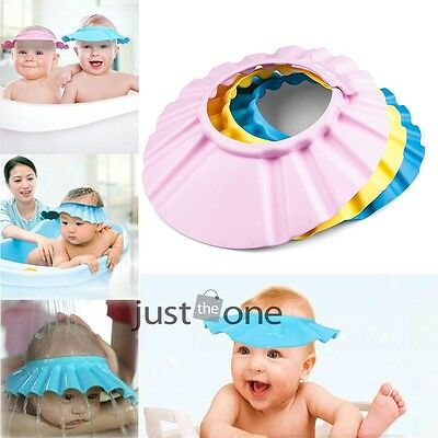 for Baby Kid Toddlers Hair Wash Cap Hat Shampoo Bath Bathing Shower Shield Guard