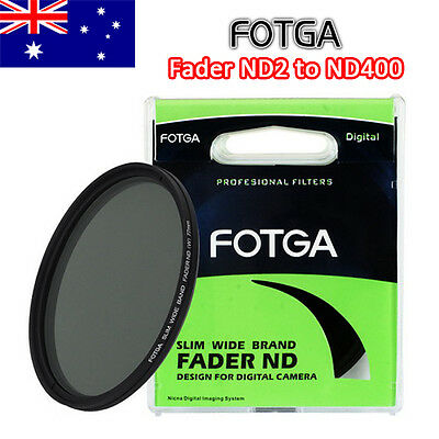 FOTGA Slim Fader Variable ND ND2 ND400 Filter 52 58 67 72 77 mm Wide Adjustable