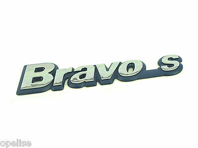 Fiat Bravo Badge Emblem Logo Blue Detail new /& Genuine 51775706