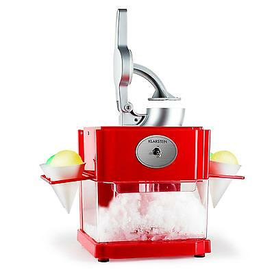 House Party Ice Shaver Kit Home Snow Cone Maker Crusher *free P&p Uk Offer