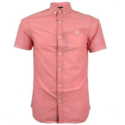 Fred Perry Dress Shirt Men (M2316) Slim Fit Tipped 100% Authentic Size S New