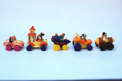 Wacky Races Set Of 5 Promotional Car Toys From 1996 In Sealed Bags