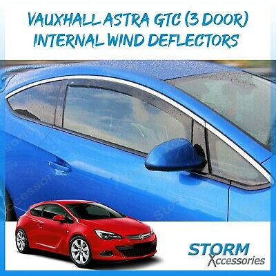 VAUXHALL ASTRA GTC 3 drs  2011 onwards Wind / Rain Deflectors - Internal Fit