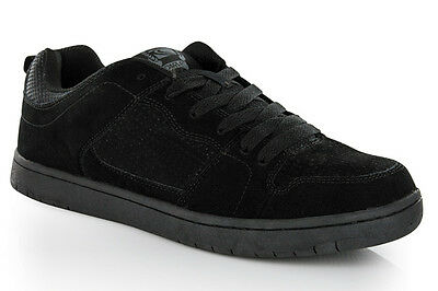 Carve Mens Legend Black Suede / Canvas Skate Shoes