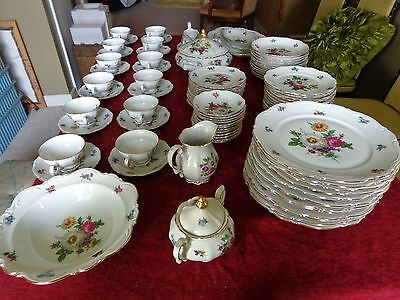 MITTEREICH Bavaria Germany MEISSEN Floral China 94 PC MINT All NUMBERED In GOLD