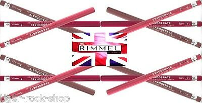 RIMMEL Lip Liner EXAGGERATE  LASTING FINISH Full Colour Twist-Up Pencil crayon