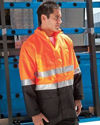 Mens Hi Vis Waterproof Jacket Size S L XL 3XL 4XL 5XL Work Coat 3M Tape