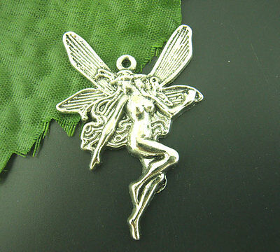 Wholesale HOT! Jewelry Silver Fairy Charms Pendants 21x15mm