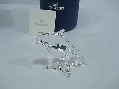 Swarovski Dolphin Baby Fish Clear Crystal Figurine Authentic - 5043633