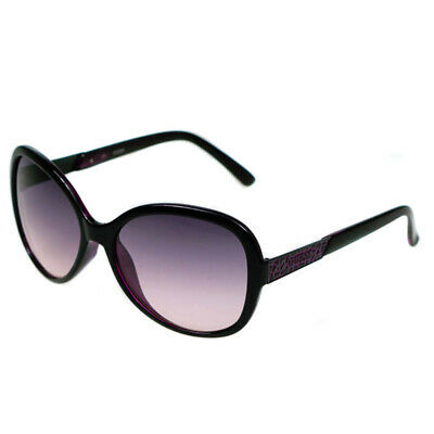 Guess Ladies Designer Sunglasses Black Frame & Purple Gradiant Lens  GU7207 NEW