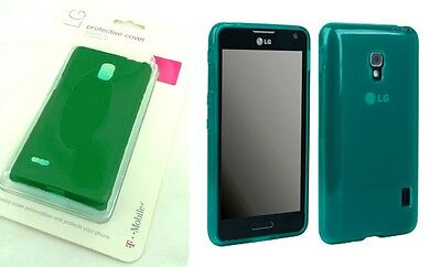 Lot OEM Neon Green T-Mobile Flex Cover Gel Case For LG Optimus F6 MS500 D500