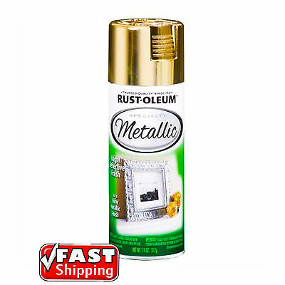 Rust-Oleum Metallic Gold 312g Spray Paint Bright Reflective Finish Arts & Craft