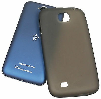 CUSTODIA MEDIACOM SILICON CASE BLU ORIGINALE PHONEPAD DUO G500 BLU
