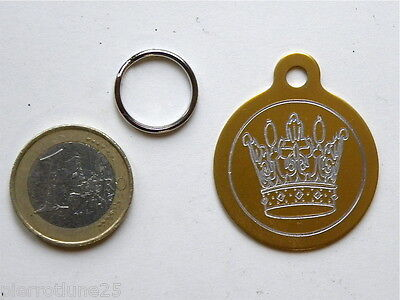 Medaille Gravee Ronde Or Royale 32 Mm Chien Colliers Gravure Gratuite