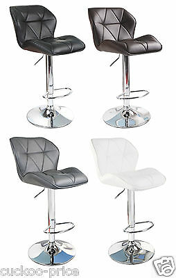 Modern Uranus Padded Swivel PU Leather Breakfast Kitchen Bar Stools Pub Barstool