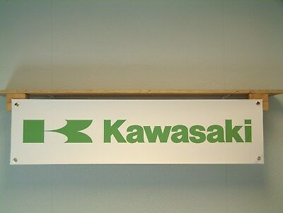 Kawasaki motorcycle garage workshop pvc banner sign