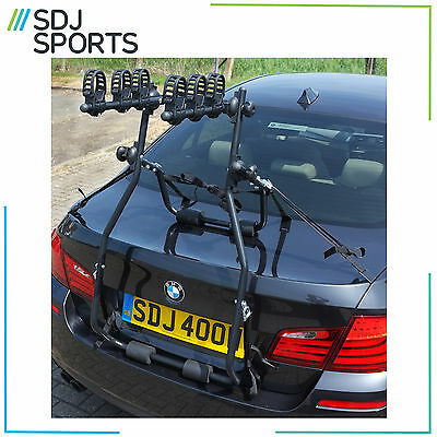 CONTRAST 3 BIKE CAR RACK HIGH RISE STRAP ON REAR MOUNTED CYCLE CARRIER BOOT NEW