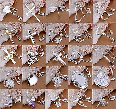 Wholesale New Fashion Desgins Solid 925 Silver Jewelry Pendant Chains Necklace