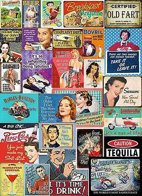 Multi Designs Vintage Retro Wall Signs /& Advertisement Metal Wall Sign Plaque L3