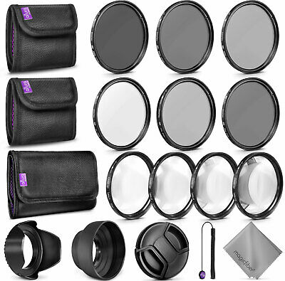 67MM Filter Kit with Macro Close Up Set + UV CPL FLD + ND 2 4 8 for Canon Nikon