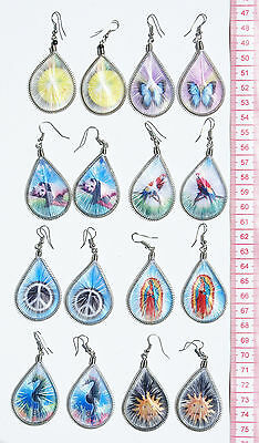 Lot 8 Pairs Peruvian Stamped Thread Earrings Handmade Fashion Jewelry Wholesale