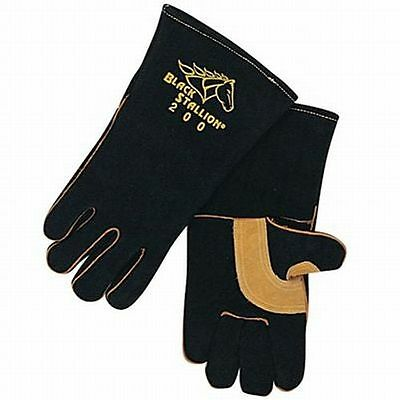 Black Stallion Stick Welding Gloves CushionCore Quality Side Split Cowhide 20285
