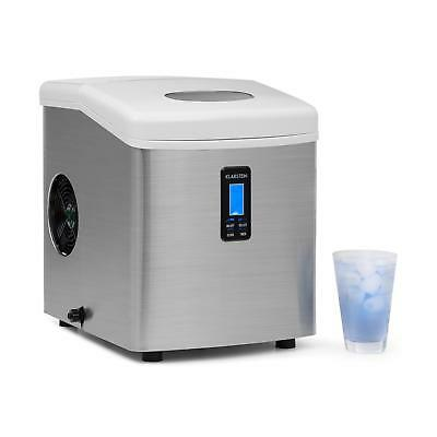 Silver Electric Ice Making Ice Cube Machine Adjustable Timer 15Kg Easy Clean
