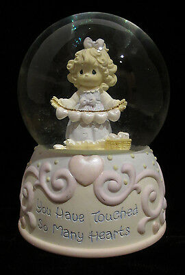 "PRECIOUS MOMENTS  MUSICAL SNOW GLOBE "" WHAT THE WORLD NEED NOW IS LOVE""  ENESCO"