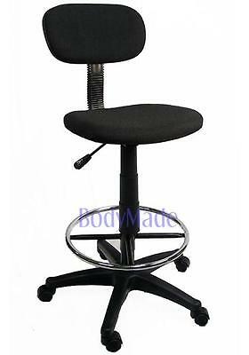 New Drafting Chair Stool Adjustable Black Fabric Office