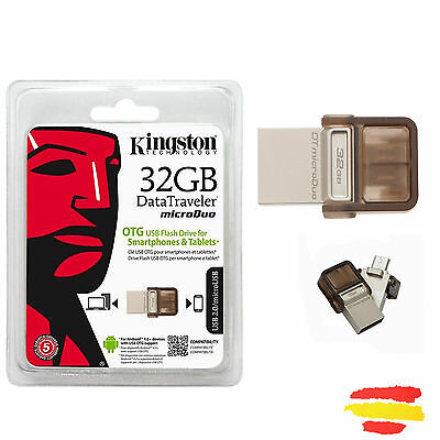 Pendrive Kingston Micro Dtduo/32Gb 32Gb Memoria Otg Usb 32 Gb Pen Drive Movil