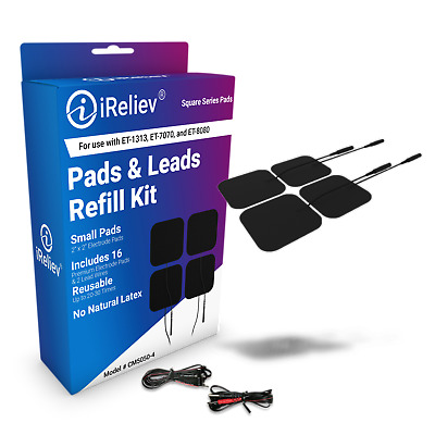 CM5050-4 iReliev Electrode Pads & Lead Refill Kit, 16 Electrodes and 2 Wires