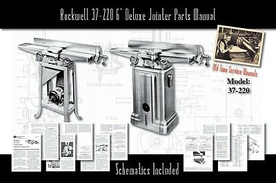 "Rockwell 37-220 6"" Deluxe Jointer Parts List User Manual"