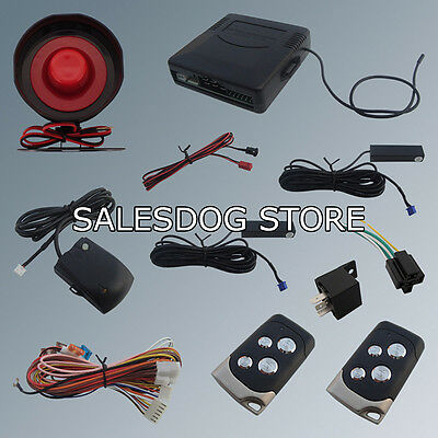 Universal Model PKE Car Alarm System Hopping Code Alarm With Power Window Output