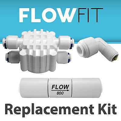 Reverse Osmosis Check Valve, Flow Restrictor & Automatic Shut off valve 800ML