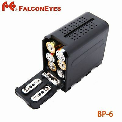 Hard Battery Case Pack Power as NP-F970 for 6pcs AA battery