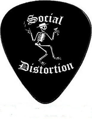 Social Distortion American Punk Rock Skeleton Martini Cigar Band Guitar Pick