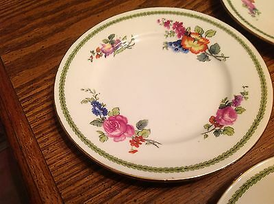4 Shelly China Floral bread & Butter plates