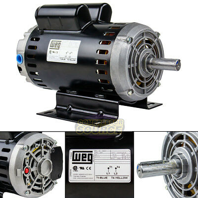 6.4 Hp 3450 RPM Single Phase 240V 56 Frame Electric Air Compressor Motor 7/8""
