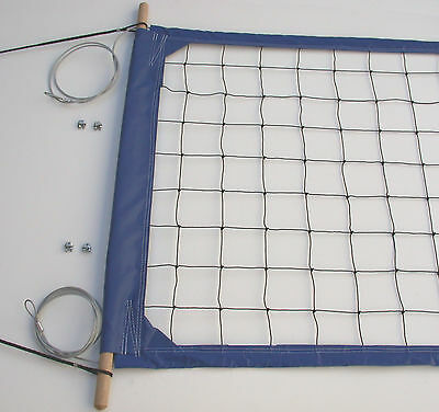 Home Court Volleyball Net, Steel Aircraft Cable Top and Bottom - PRO2B