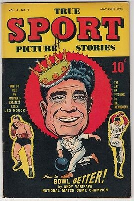 "[47476] ""TRUE SPORT PICTURE STORIES"" COMIC VOL. 4, No. 7 MAY 1948 [GRADE: 6.0]"