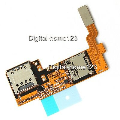 New Flex Cable MicroSD Sim Card Holder Connector part For LG Optimus G Pro E980