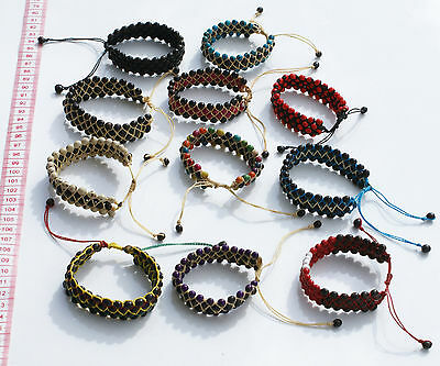 Lot 6 Color Tropical Seeds Bracelets Peruvian Fashion Hand Woven Ethnic Jewelry