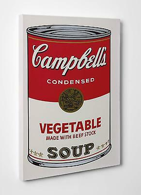 Andy Warhol Campbell's Soup Can Quadro  Stampa Su Tela Canvas Vernice A Pennello