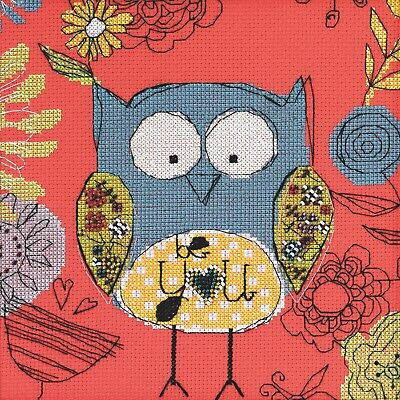 Be You Owl Beaded Counted Cross Stitch Kit Mill Hill Amylee Weeks 2014