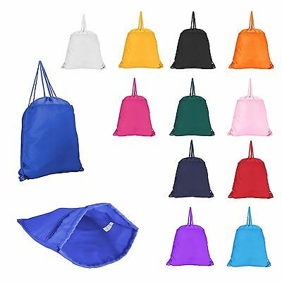 Original Drawstring Backpack Tote Sock Sack Pack Bag Dual Drawstrings