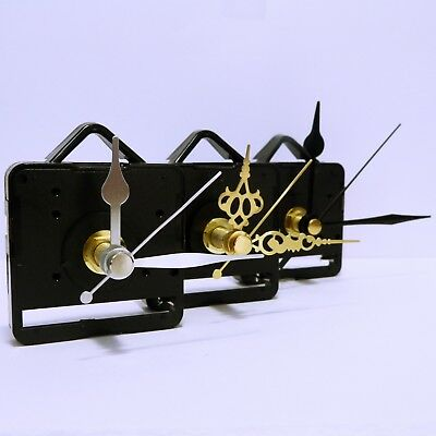 10x Quartz DIY clock movement sweep mechanism (non ticking) with hands,free post