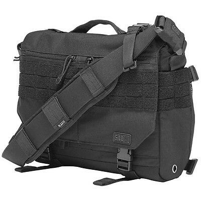 5.11 Rush Delivery Mike Padded Combat Messenger Laptop Shoulder Bag MOLLE Black