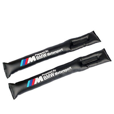 BMW Black Leather Car Seat Seam Gap Filler Soft Pad Leakproof for 3 SERIES 1PCS
