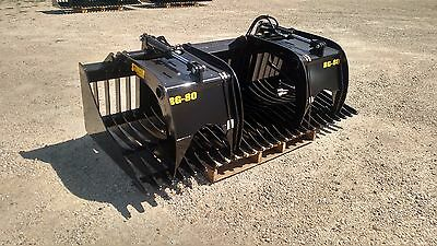 "New 80"" Rock Skeleton bucket with grapples. 48"" opening! Gr 50 Steel, Skid Steer"