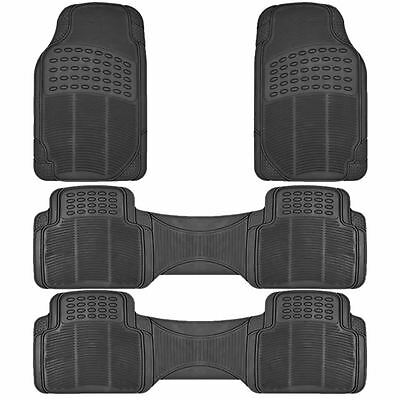 4Pc All Weather Black Rubber Floor Mats Runners Set For Nissan Pathfinder